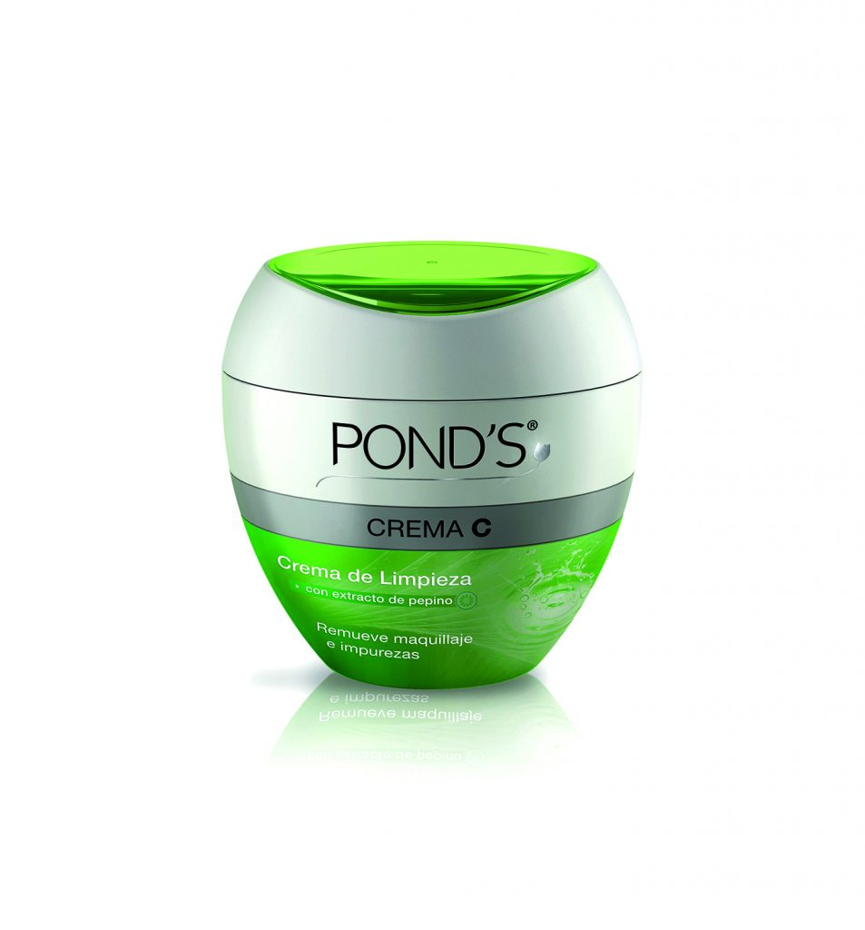 Enriquecida con extracto de pepino, la nueva crema desmaquillante C de Pond's deja el cutis perfectamente limpio y con agradable sensación de alivio.