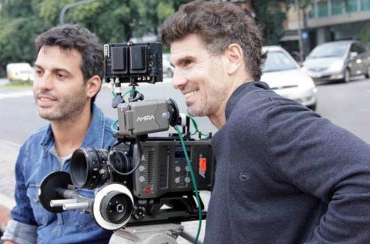 Nicolás Cuño y Martín Lief, juntos durante un rodaje.